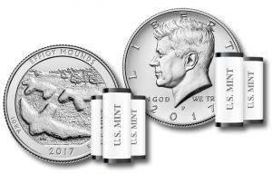 Effigy Mounds quaters and 2017 Kennedy Halves