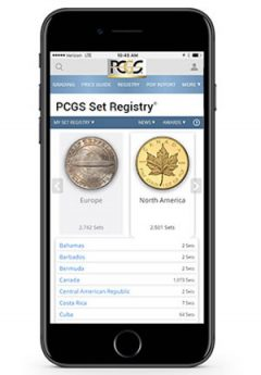 PCGS Set Registry Now Mobile
