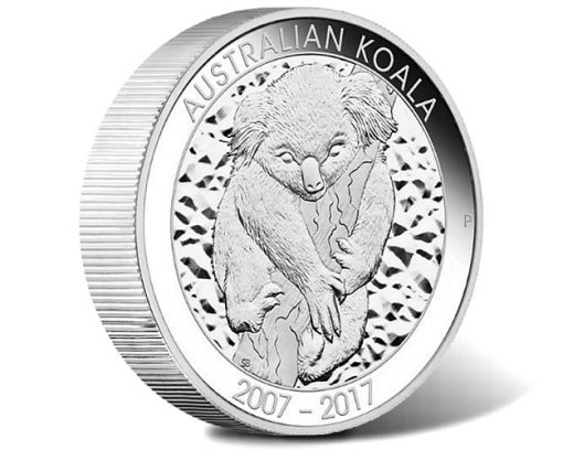 10th Anniversary 2017 Australian Koala 10oz Silver Proof Coin