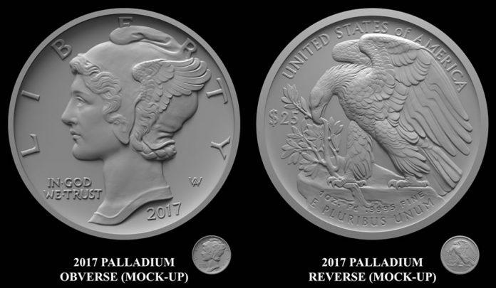 2017 $25 American Eagle 1 oz. Palladium Bullion Coin Designs