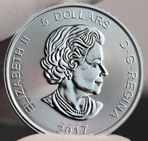 2017 $5 Canadian Lynx 1 oz Silver Coin-Obverse,a