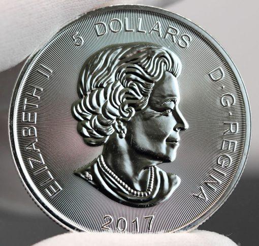 2017 $5 Canadian Lynx 1 oz Silver Coin-Obverse,b