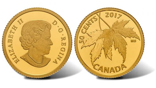 2017 50c Silver Maple Leaf Gold Coin