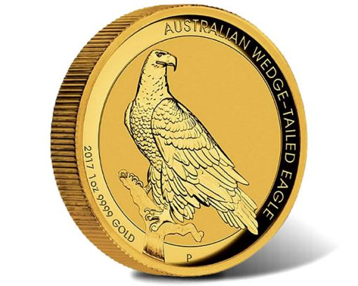 2017 Australian Wedge-Tailed Eagle 1 oz Gold High Relief Coin