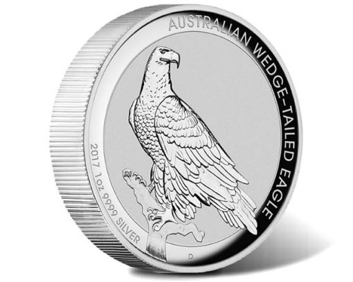 2017 Australian Wedge-Tailed Eagle 1 oz Silver High Relief Coin