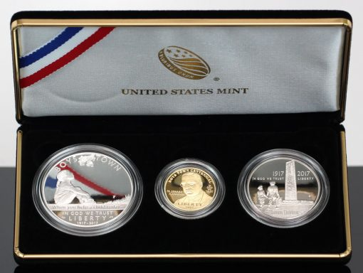 2017 Boys Town Three-Coin Proof Set-Closeup