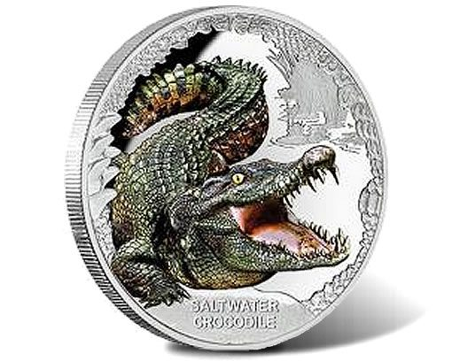2017 Saltwater Crocodile 1oz Silver Proof Coin