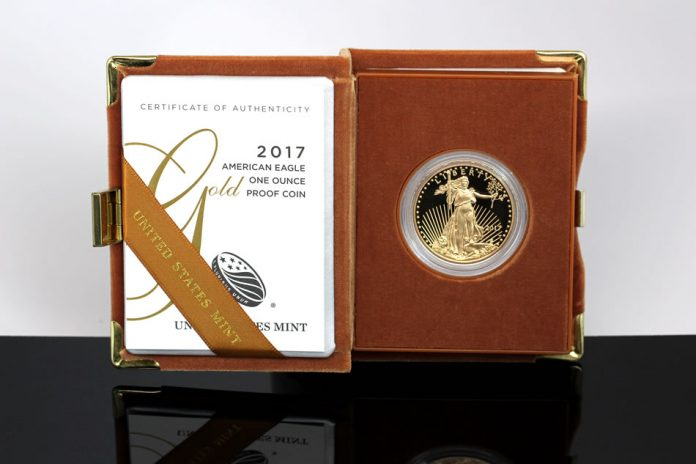 2017-W $50 Proof American Gold Eagle, Cert and Case