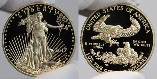 2017-W $50 Proof American Gold Eagle, Obverse and Reverse