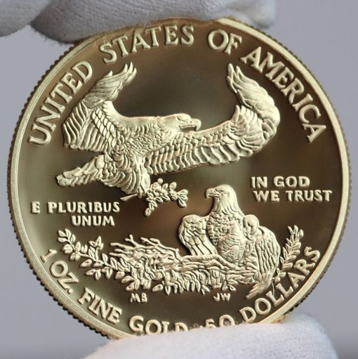 2017-W $50 Proof American Gold Eagle, Reverse-a