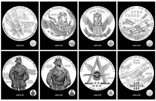 Air Service Silver Medal Design Candidates - Obverses