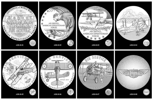 Air Service Silver Medal Design Candidates - Reverses