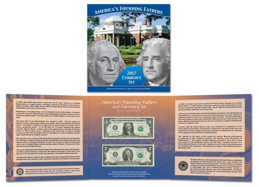 Americas Founding Fathers 2017 Currency Set
