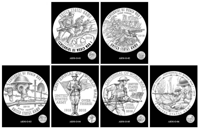 Army Silver Medal Design Candidates - Obverses
