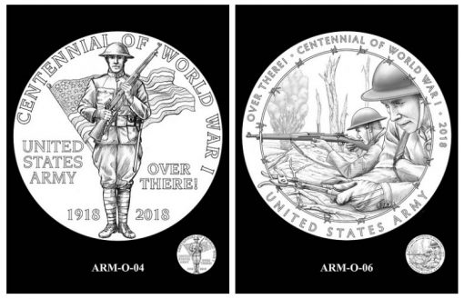 CCAC and CFA Recommended Army Silver Medal Obverse Designs