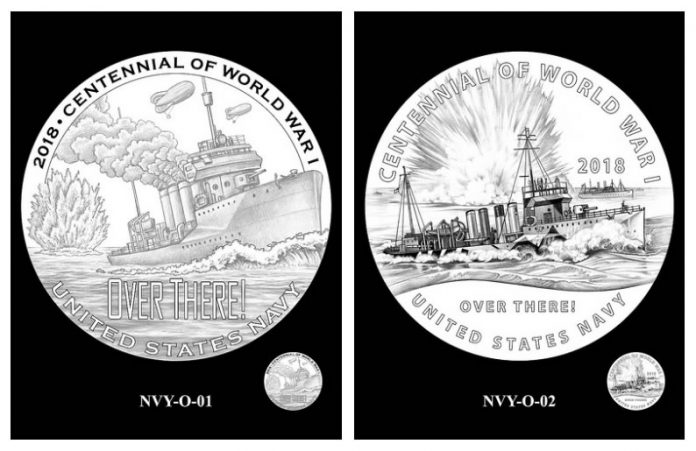 CCAC and CFA Recommended Navy Silver Medal Obverse Designs