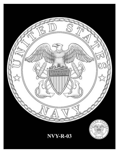 CCAC and CFA Recommended Navy Silver Medal Reverse Design