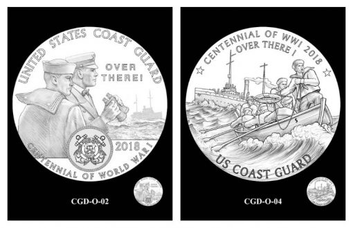 CFA and CCAC Recommended Coast Guard Silver Medal Obverse Designs