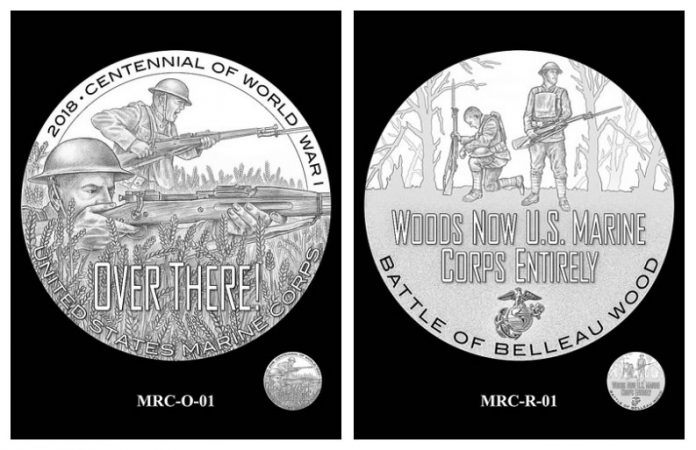 CFA and CCAC Recommended Marines Silver Medal Obverse Designs