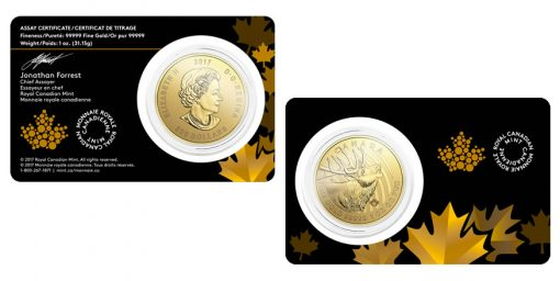 Call of the Wild Series 2017 $200 Canadian Elk 1 oz Gold Coin, Packaging