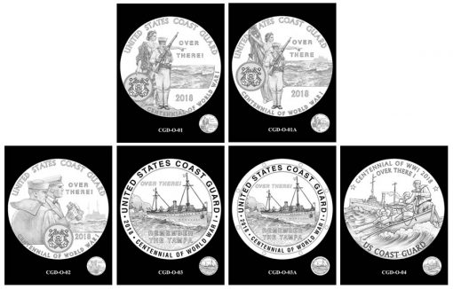 Coast Guard Silver Medal Design Candidates - Obverses