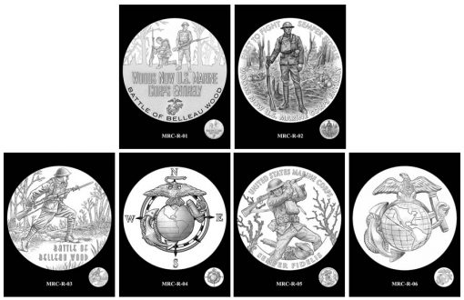 Marines Silver Medal Design Candidates - Reverses