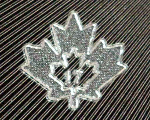Micro-engraved maple leaf mint mark