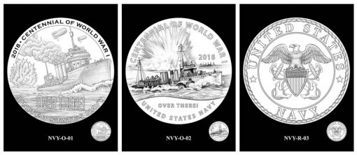 Navy Silver Medal Design Candidates - Obverses