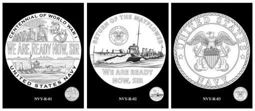 Navy Silver Medal Design Candidates - Reverses