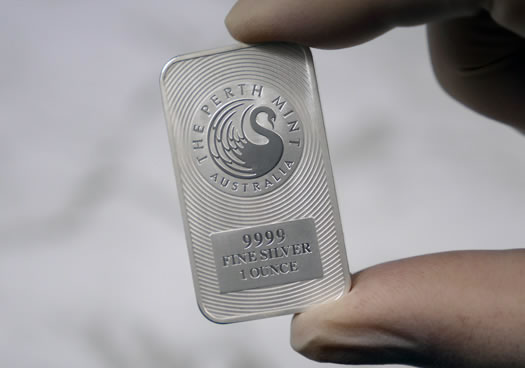 Perth Mint photo of Kangaroo Silver Bar