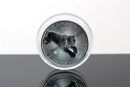 Predator Series 2017 $5 Canadian Lynx 1 oz Silver Coin