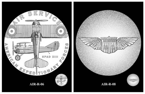 Recommended Air Service Silver Medal Designs - Obverse and Reverse