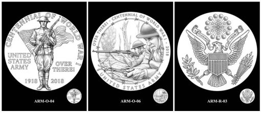 Recommended Army Silver Medal Designs - Obverse and Reverse
