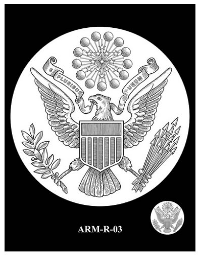 Recommended Army Silver Medal Reverse Design