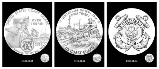 Recommended Coast Guard Silver Medal Designs - Obverses and Reverse