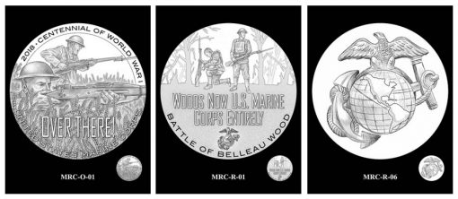 Recommended Marines Silver Medal Designs - Obverses and Reverse