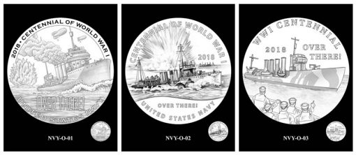 Recommended Navy Silver Medal Designs - Obverse and Reverse