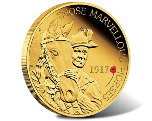The ANZAC Spirit 100th Anniversary 2017 Beersheba Gold Proof Coin