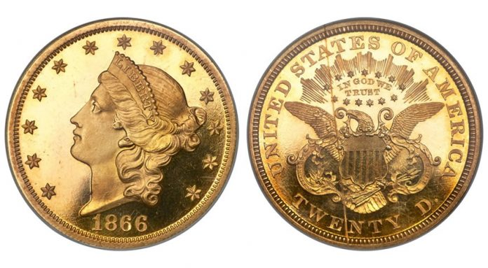 1866 Liberty Double Eagle