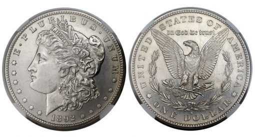 1892-S Morgan Dollar MS63 NGC
