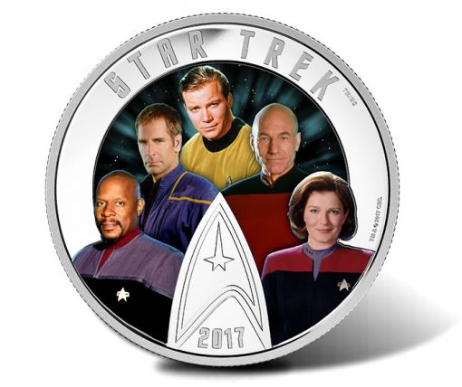 2017 $30 Star Trek Five Captains 2 oz. Silver Coin - Daylight