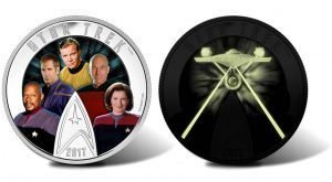 Canadian 2017 $30 Star Trek Captains Coin Glows in the Dark
