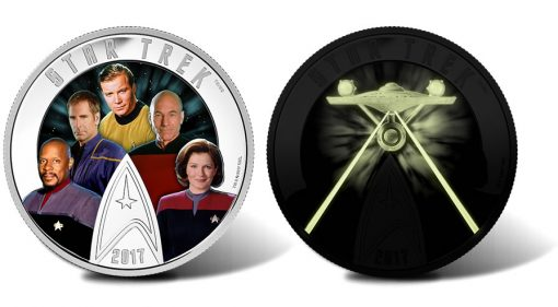 2017 $30 Star Trek Five Captains 2 oz. Silver Coin - Daylight and Dark