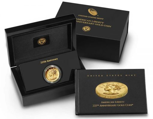 2017 American Liberty 225th Anniversary Gold Coin, Case and Booklet