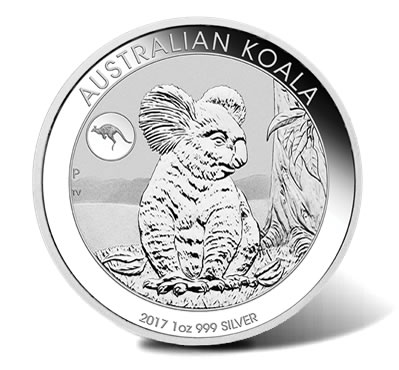 2017 Australian Koala with Kangaroo Privy 1oz Silver Bullion Coin
