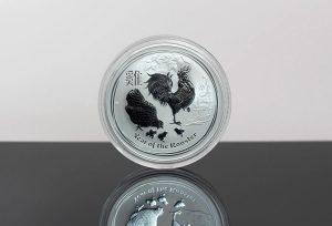 2017 Australian Lunar Rooster 1-Ounce Silver Bullion Coin Photo