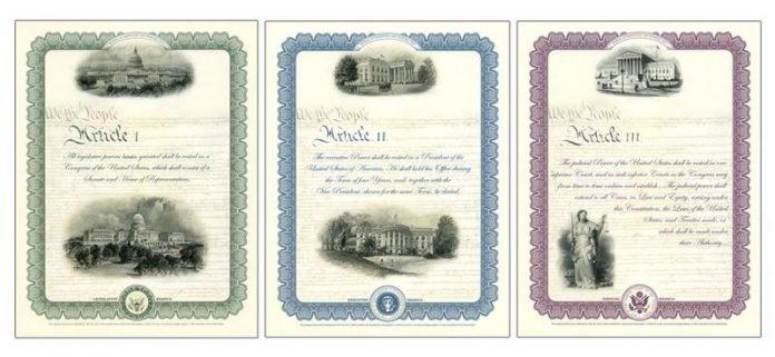 2017 Constitution Series Intaglio Prints