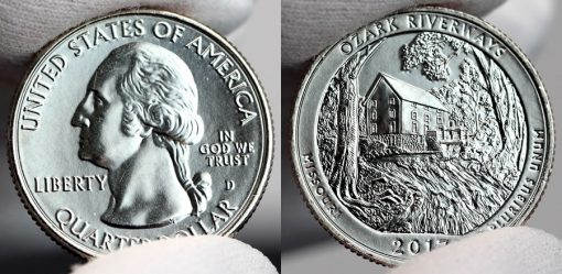 2017-D Uncirculated Ozark National Scenic Riverways Quarter - Obverse and Reverse