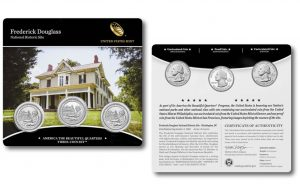 Frederick Douglass Quarters for D.C. in Three-Coin Set