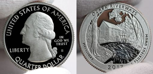2017-S Proof Ozark National Scenic Riverways Quarter - Obverse and Reverse